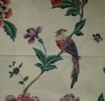 "Shabby Chic Cushion Cover in Laura Ashley Elvedon Cranberry 16"" With Bird"